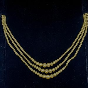 Vintage Faux Pearl Multilayer Necklace